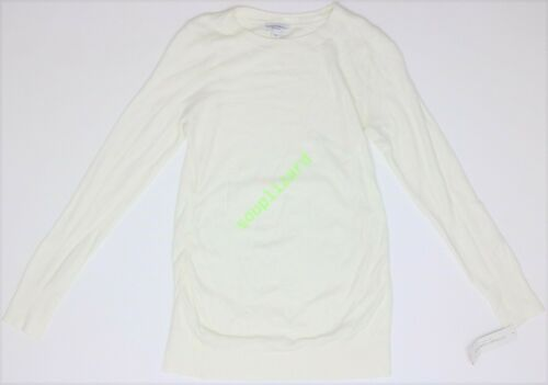 New Women Liz Lange Maternity Clothes Knit Sweater Long Sleeve NWT Size L Large