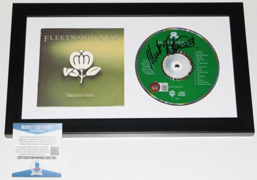 MICK FLEETWOOD MAC SIGNED FRAMED GREATEST HITS CD COVER BOOKLET BECKETT COA BAS