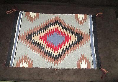 Native American Indian Blanket Navajo 25.5 x 17.5