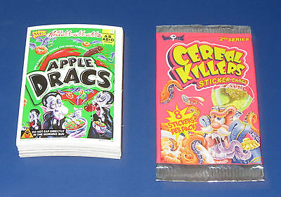 CEREAL KILLERS SERIES 2 STICKERS COMPLETE SET 1-55 NM/MT CONDITION w/WRAPPER