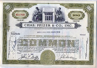 Chas. Pfizer & CO., Inc. Stock Certificate