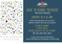 Back to school photo sessions !