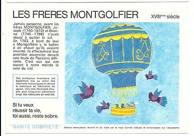 2 Buvards Sécurité Sobriété - LES FRERES MONTGOLFIER N°23 (21 à 30 disponibles)