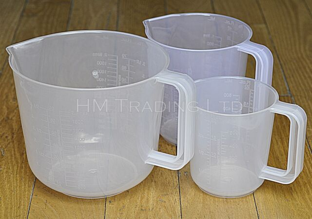 1 / 2 /  3.5 Pint Clear Plasic Measuring Jug Mixing Kitchen