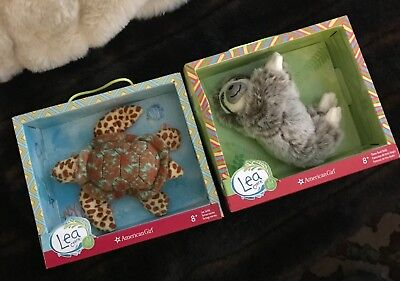 American Girl Doll Lea Clark Pet Animal toys - Sloth and Turtle - New in box