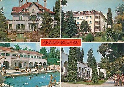 alte AK Arandjelovac - vier Ansichten, Jugoslawien gelaufen Ansichtskarte B028e