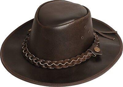 Hut Australien (Westernhut HOOLEY Lederhut Australien Hut Scippis Outdoorhut Cowboyhut Braun)