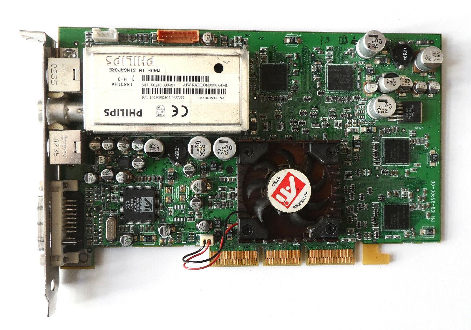 AGP Grafikkarte ATI All in Wonder 9000 TV-Karte, 64 MB, DVI