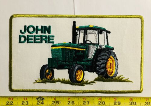 VINTAGE patch JOHN DEERE tractor large back early 1980