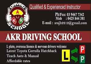AKR DRIVING SCHOOL IN NORTHERN SUBURB (BUNDOORA) Bundoora Banyule Area Preview