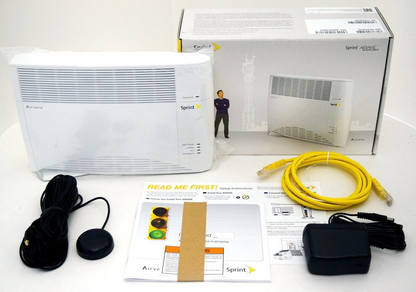 new sprint airave 2 5 airvana access point recfemt02 cell phone rh ebay com Sprint Airave Review 2012 Sprint Airave Access Point Light