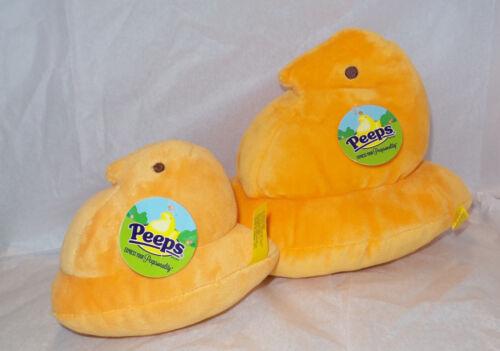 "Set of 2 Just Born Peeps Orange Chicks 9"" & 6"" NWT EASTER"