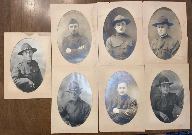 "Original WWI US Army GI Soldiers Photograph Photo  7""x5"" Estate Lot 7"