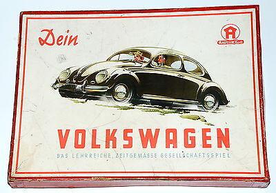Hausser Spiel: Dein Volkswagen - 6x Porzellan VW Käfer mit geteilter Heckscheibe