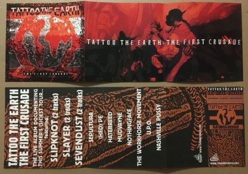 SLIPKNOT & SLAYER w/ Nothingface HED PE DOUBLE SIDE PROMO POSTER FLAT of 2000 CD