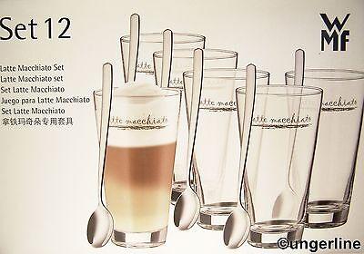 wmf latte macchiato 12 er set 6 gl ser 6 l ffel neu ebay. Black Bedroom Furniture Sets. Home Design Ideas