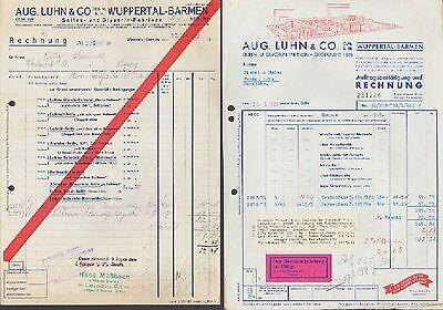 WUPPERTAL-BARMEN, Rechnung 1939, Seifen- u. Glycerin-Fabriken Aug.