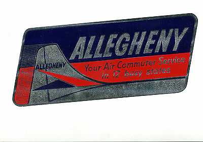 Vintage Airline Luggage Label Allegheny Air Commuter Service 12 Busy States Foil