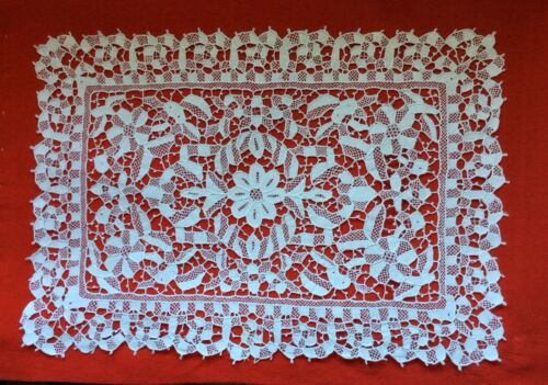 Antique 1900's Needle Lace Placemat