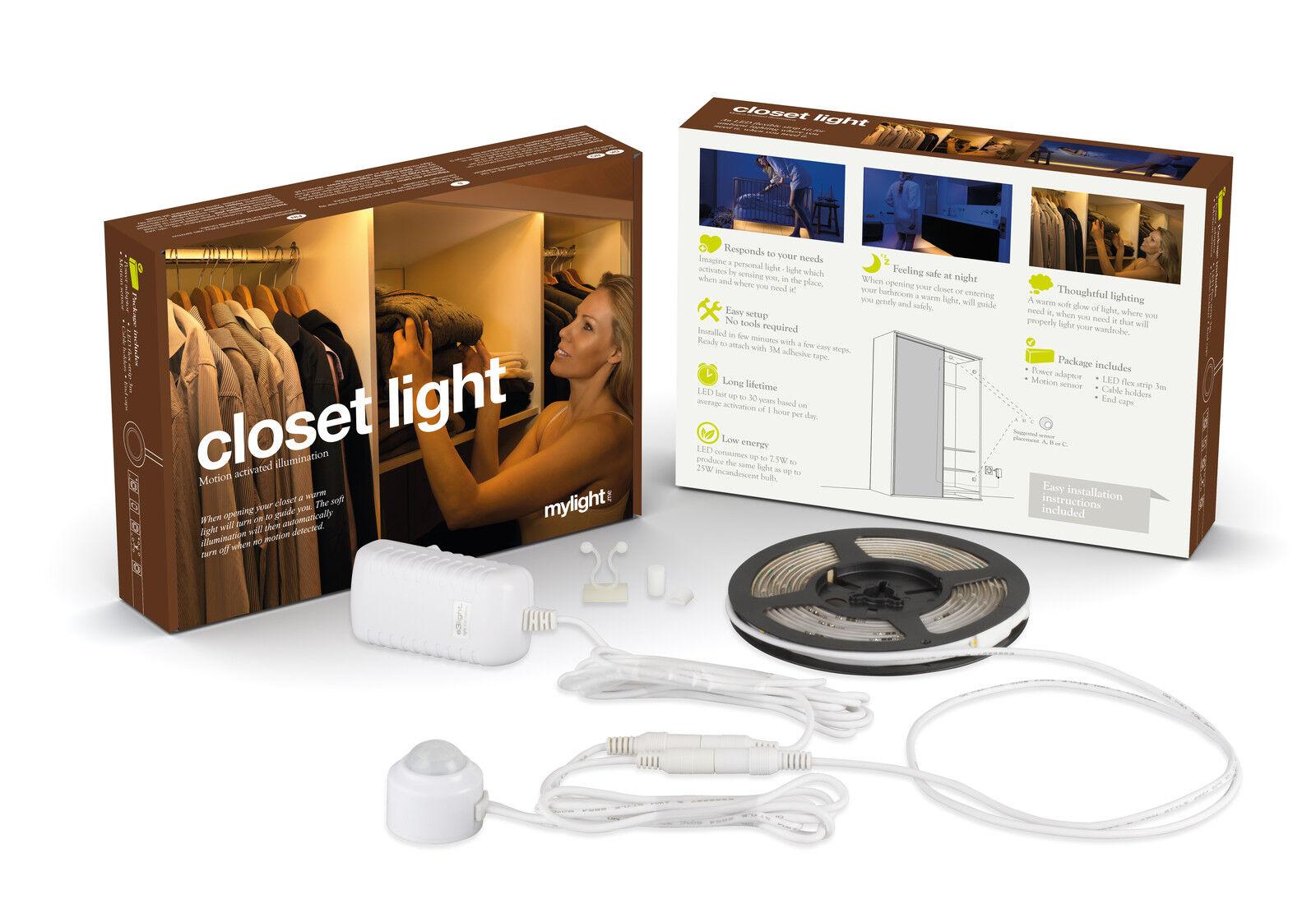 kleiderschrank licht 1 x 3m led nachtlicht schlafzimmerlicht k che bad bett eur 49 90. Black Bedroom Furniture Sets. Home Design Ideas