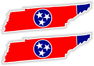 Tennessee State Shape Flag Hard Hat Or Welding Helmet Stickers Decals Motorcycle