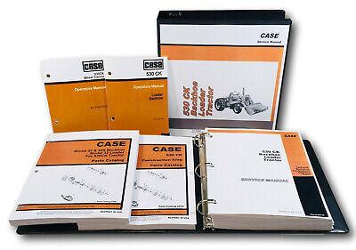 Case 530ck Tractor Loade Backhoe Service Parts Operators Manual Catalog Shop Set
