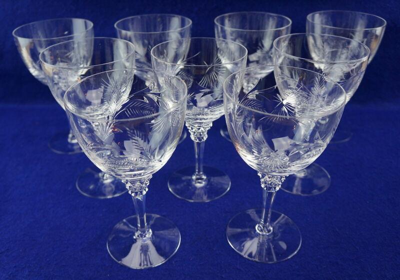 """Tiffin-Franciscan Lohengrin (9) Water Goblets, 6 1/2"""""""