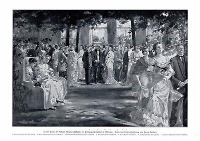 Richard Wagner Festspiele München XL Druck v. Guillery 1910 Prinzregententheater