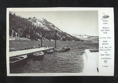 Купить REAL PHOTO ECHO LAKE PLACERVILLE LAKE TAHOE CALIFORNIA BOATS POSTCARD COPY