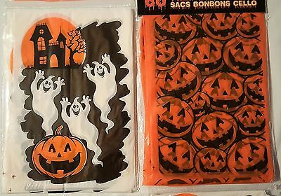 120 Mini Treat Candy Bags Pumpkins Ghosts Hallloween Party Supplies