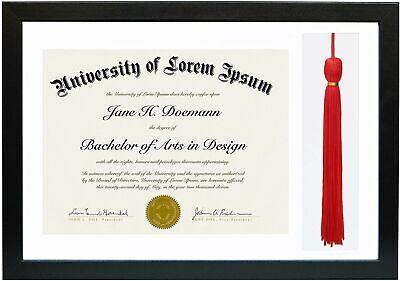 Americanflat Black Photo Tassle Diploma Graduation Frames