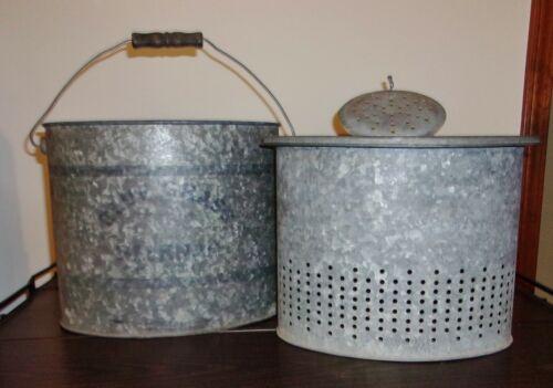 Vintage BLUE GRASS Belknap Minnow Bucket - OVAL