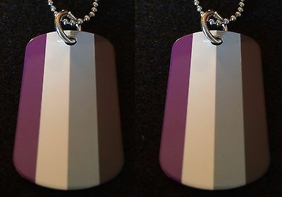 Asexual / Agender Lesbian Gay Pride 2-Sided Color Photo Dog Tag Necklace
