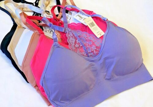 SPORTS BRAS 3-6 BRA YOGA ACTIVE WEAR RACER BACK TOP 408 MISS PLUS Size GIFT PACK