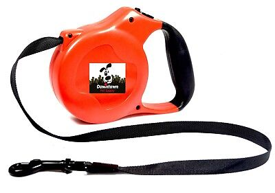 Strong Retractable Dog Puppy Leash Comfort Handle Lightweight + FREE Waste Bags (Handle Retractable Dog Leash)
