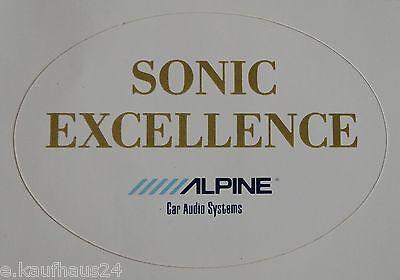 Aufkleber ALPINE CAR AUDIO SYSTEMS Sonic Exellence Auto HiFi Sticker weiss