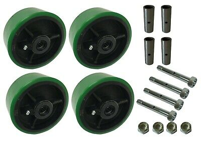 4 Heavy Duty Caster Wheels Set 4 5 6 8 G Polyurethane On Cast Iron Wheel
