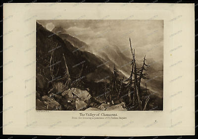 Druck-Stahlstich-Engraving-J.M.W. Turner-The Valley of Chamouni-Allen & Co-70