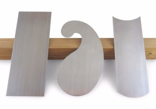 """Arno French Cabinet Scrapers 3 Profiles 015"""" 4mm Thick Hard Spring Steel 115550"""