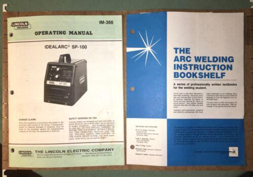 Lincoln Electric Welder~Idealarc SP-100~Operators Manual~Papers~Original