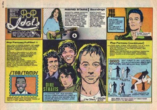 Pop Idols by Stan Drake - Dire Straits - full page Sunday comic - May 27, 1979