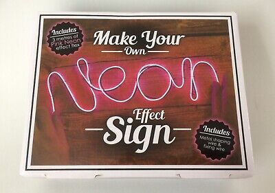Make Your Own Neon Effect Sign 3M Neon String Light Message Kit Party (Make Your Own Neon Effect Sign Kit)