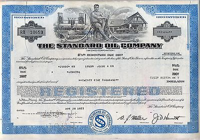 The Standard Oil Company Bond Stock Certificate Gas Refining
