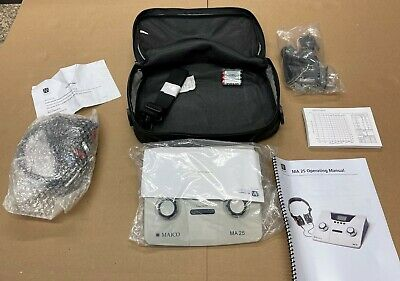 New Maico Ma 25 Ma25 Portable Audiometer Complete Kit With All Accessories