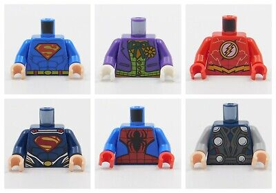 LEGO SUPERHERO TORSOS JOKER FLASH SUPERMAN THOR SPIDER MAN FOR MINIFIGURES