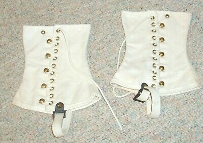 Spats, Gaiters, Puttees – Vintage Shoes Covers Vintage white BOY SCOUTS OF AMERICA leggings  / spats , size large $9.99 AT vintagedancer.com