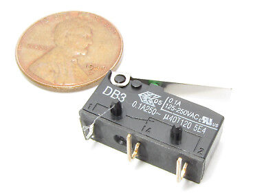 Cherry Db3 Micro Switch Nc No 0.1a 125v 250v Ac Momentary Lever Limit Spdt I