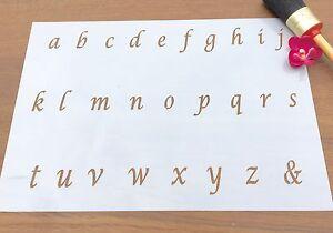 Italic Letters Stencil, ABC Lower Case  Stencil, Old English Lettering Stencil