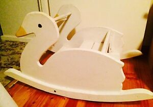 Wooden toddler swan rocker twin seats sturdy Woodville South Charles Sturt Area Preview