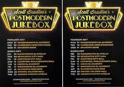 3 SCOTT BRADLEE POSTMODERN JUKEBOX 2017 TOUR FLYERS  BIRMINGHAM BRISTOL PLYMOUTH